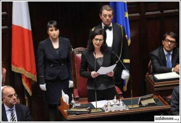 Discorso Camera Boldrini : Laura boldrini presidente della camera dei deputati noi donne